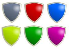 ασπίδα κουμπιών Στοκ φωτογραφία με δικαίωμα ελεύθερης χρήσης