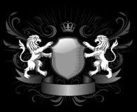 ασπίδα λιονταριών διακρι&t διανυσματική απεικόνιση