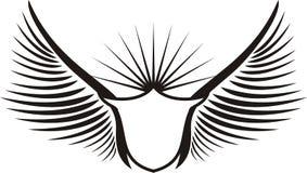 ασπίδα φτερωτή Στοκ Εικόνες