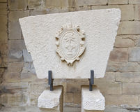ασπίδα santa poblet μοναστηριών de detail Μαρία Στοκ εικόνα με δικαίωμα ελεύθερης χρήσης