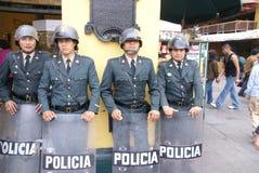 ασπίδες ταραχής αστυνομίας Στοκ Φωτογραφία