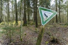 Ασπίδα επιφύλαξης φύσης Στοκ φωτογραφία με δικαίωμα ελεύθερης χρήσης