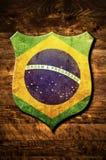 ασπίδα μετάλλων της Βραζι Στοκ Εικόνες