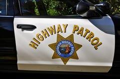 Ασπίδα πορτών περιπολικών αυτοκινήτων εθνικών οδών Καλιφόρνιας Στοκ Εικόνα
