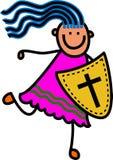 Ασπίδα του κοριτσιού πίστης διανυσματική απεικόνιση