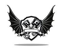 Ασπίδα φτερών μηχανών Στοκ φωτογραφία με δικαίωμα ελεύθερης χρήσης