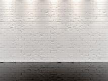 ΑΣΠΡΟΣ ΤΟΥΒΛΌΤΟΙΧΟΣ ΚΑΙ ΜΑΥΡΟ ΣΤΙΛΠΝΟ ΠΑΤΩΜΑ Στοκ εικόνα με δικαίωμα ελεύθερης χρήσης