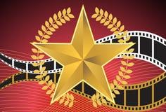 αστέρας κινηματογράφου ανασκόπησης Στοκ φωτογραφία με δικαίωμα ελεύθερης χρήσης