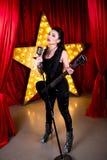 Αστέρας της ροκ γυναικών Στοκ εικόνα με δικαίωμα ελεύθερης χρήσης
