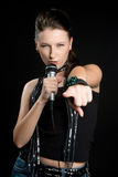 αστέρας της ροκ κοριτσιώ&n Στοκ Εικόνα