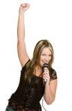 αστέρας της ροκ κοριτσιώ&n Στοκ Φωτογραφία