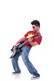 Αστέρας της ροκ που παίζει σόλο Στοκ εικόνα με δικαίωμα ελεύθερης χρήσης