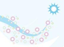 Αστέρια αντικειμένου στο υπόβαθρο παιδιών κυμάτων στοκ εικόνα με δικαίωμα ελεύθερης χρήσης