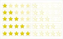 Αστέρια αξιολόγησης Στοκ εικόνες με δικαίωμα ελεύθερης χρήσης