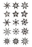 αστέρια 15 αρχικά διακοσμητικά σύμβολα χαρακτήρων για το κείμενο και τις σελίδες ελεύθερη απεικόνιση δικαιώματος