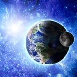 αστέρια γήινων πλήρη πλανητών ανασκόπησης Στοκ εικόνα με δικαίωμα ελεύθερης χρήσης