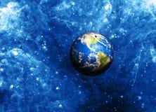 αστέρια γήινων πλήρη πλανητών ανασκόπησης Στοκ Εικόνα