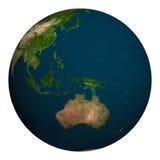 αστέρια γήινων πλήρη πλανητών ανασκόπησης Αυστραλία, Ωκεανία και μέρος της Ασίας Στοκ εικόνα με δικαίωμα ελεύθερης χρήσης