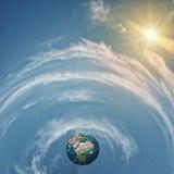 αστέρια γήινων πλήρη πλανητών ανασκόπησης Στοκ φωτογραφία με δικαίωμα ελεύθερης χρήσης