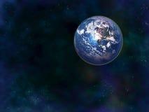 αστέρια γήινων πλήρη πλανητών ανασκόπησης Στοκ Εικόνες