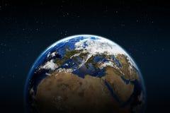 αστέρια γήινων πλήρη πλανητών ανασκόπησης Στοκ Φωτογραφίες