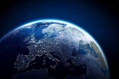 αστέρια γήινων πλήρη πλανητών ανασκόπησης Στοκ εικόνες με δικαίωμα ελεύθερης χρήσης