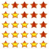 Αστέρια εκτίμησης Στοκ φωτογραφίες με δικαίωμα ελεύθερης χρήσης