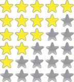 αστέρια εκτίμησης διανυσματική απεικόνιση