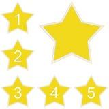 Αστέρια εκτίμησης Στοκ εικόνες με δικαίωμα ελεύθερης χρήσης