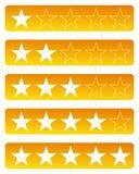 Αστέρια εκτίμησης ελεύθερη απεικόνιση δικαιώματος