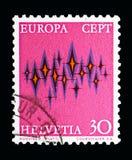 Αστέρια, Ευρώπη (S Ε Π Τ ) serie, circa 1972 Στοκ εικόνα με δικαίωμα ελεύθερης χρήσης