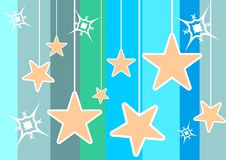 Αστέρια διακοσμήσεων Στοκ Εικόνα
