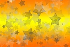 Αστέρια κίτρινος και πορτοκαλής ελεύθερη απεικόνιση δικαιώματος