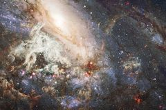 Αστέρια και γαλαξίας σε ένα βαθύ διάστημα Στοιχεία αυτής της εικόνας που εφοδιάζεται από τη NASA στοκ εικόνες