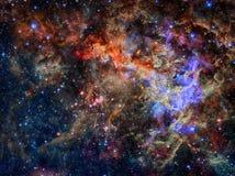 Αστέρια και γαλαξίας σε ένα βαθύ διάστημα στοκ εικόνα
