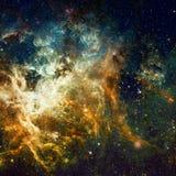 Αστέρια και γαλαξίας σε ένα βαθύ διάστημα στοκ εικόνα με δικαίωμα ελεύθερης χρήσης