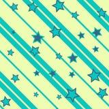 Αστέρια και γραμμές άνευ ραφής Στοκ Φωτογραφίες