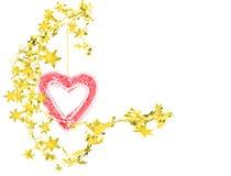 αστέρια καρδιών Στοκ φωτογραφία με δικαίωμα ελεύθερης χρήσης