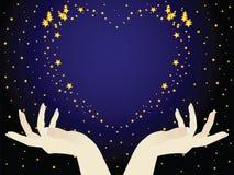 αστέρια καρδιών Στοκ εικόνα με δικαίωμα ελεύθερης χρήσης