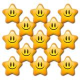 αστέρια κινούμενων σχεδί&omega Στοκ εικόνες με δικαίωμα ελεύθερης χρήσης