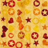 Αστέρια κύκλων καρδιών άνευ ραφής Στοκ φωτογραφία με δικαίωμα ελεύθερης χρήσης