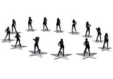 αστέρια μόδας απεικόνιση αποθεμάτων