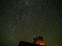 Αστέρια νυχτερινού ουρανού που παρατηρούν Pleiades και Perseus Στοκ εικόνα με δικαίωμα ελεύθερης χρήσης