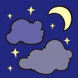 αστέρια νυχτερινού ουρα&nu Στοκ φωτογραφίες με δικαίωμα ελεύθερης χρήσης
