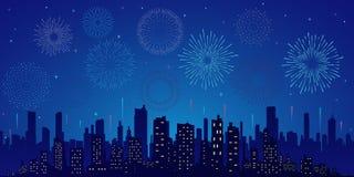 Αστέρια, ορίζοντας και χαιρετισμός διανυσματική απεικόνιση