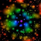 Αστέρια ουράνιων τόξων Στοκ εικόνες με δικαίωμα ελεύθερης χρήσης