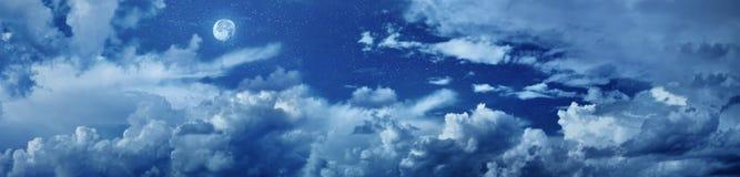 αστέρια ουρανού πανοράματος νύχτας διανυσματική απεικόνιση