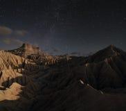 Αστέρια πέρα από την έρημο Στοκ Φωτογραφία