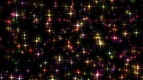 Αστέρια που ακτινοβολούν και που κινούνται όπως τις μύγες πυρκαγιάς απεικόνιση αποθεμάτων