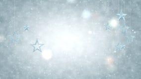 Αστέρια που κρεμιούνται αργυροειδή στις αλυσίδες Αφηρημένο βίντεο απόθεμα βίντεο